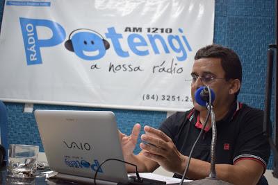 Logo mais às 18h10, na Rádio Potengi AM, o prefeito Naldinho fará ...